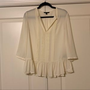 Banana Republic Ivory Peplum Blouse